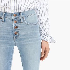 J. Crew 9 inch high rise button fly toothpick jean
